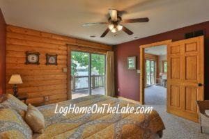 Bedroom #4 Queen Bed, 2nd Floor. Patio door to 2nd floor deck. Lake view.